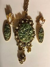 """Beautiful 18""""Inches GT Chain with Dangling Pearl Pendant &  Clip-on Earrings"""