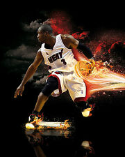 Dwyane Wade Poster Miami Heat Wall Art Home Decor 16x20 Inches