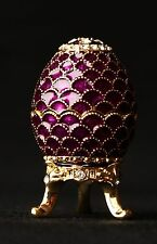 """St Petersburg Russian Faberge Egg: Easter Egg Trinket Box, 1.2"""" """"Scales"""""""