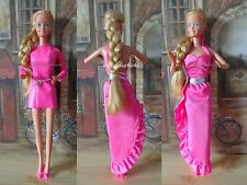 "Vintage Barbie Doll ""Twirly Curls #5579"" with Clothes Lot Superstar Era EXC"