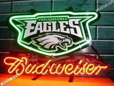 NFL Philadelphia Eagles Budweiser Bud Light Beer Bar Real Neon Sign FREE SHIP