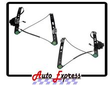 BMW 3 Series Power Window Regulators Set of 2 Pair Front Left & Right W/O Motor