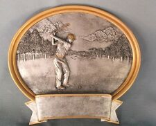 "6"" size oval resin plaque GOLF award  trophy male 56621GS"