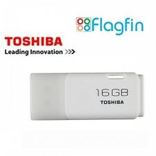 16 Gb Usb Flash Drive Usb Pen Drive Toshiba TransMemory Nuevo Retail Pack-Blanco