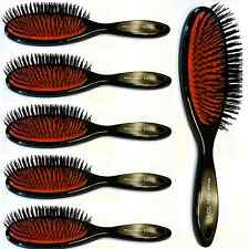 6 X Hair Extension Brush, Head Jog 101,Rubber Cushion, Nylon Bristle, Salon