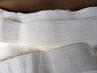 10 METRES X 3 INCH CURTAIN HEADING TAPE PENCIL PLEAT (D) WITH INTERWOVEN POCKETS