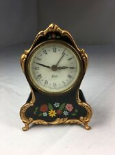 """Vintage Clock, 4.75"""" Made In Germany, Music Function Made In Switzerland,"""