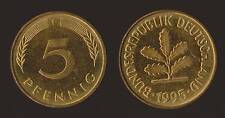 GERMANIA GERMANY 5 PFENNIG 1995 F