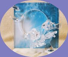"Swarovski WONDERS OF THE SEA ""HARMONY"" CLEAR PICTURE FRAME - SCS 2005 RETIRED"