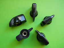 5 PCS BIG BLACK CHICKENHEAD VINTAGE TUBE AMP KNOB 6.3 WITH SCREW