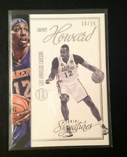 2012/13 Signatures #87 DWIGHT HOWARD #20/25 MADE Lakers Chase Stars Panini
