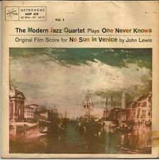 MODERN JAZZ QUARTET One never knows SWEDISH EP METRONOME