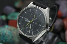 C 1972 Vintage SEIKO Automatic Chronograph 6138-3009 Stainless Steel Sport Watch
