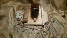 California White Sage w/Dragon's Blood Resin Smudge Wand, Fan and Instructions
