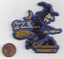 WITCH MAGNET  SALEM MASSACHUSETTS  FLYING OFF THE HANDLE  NEW