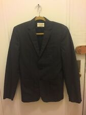 RAG & BONE Mens Dark Gray Light Black Button Suit Coat 3 Pocket Blazer Jacket 38