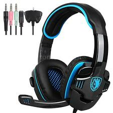 Sades SA-708GT Surround Bass Pro Gaming Headset Headphone For PS4 PC Laptop H3K4