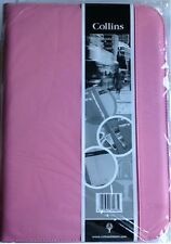 NEW Pink Collins A4 Conference folder with zip, pad and binder...