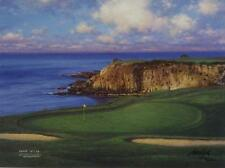 """Larry Dyke """"The Eight at Pebble Beach"""" Signed and Numbered Golf Print"""
