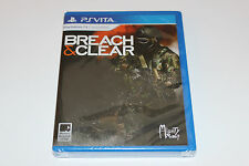 NEW & SEALED Breach and Clear Playstation PS Vita BEAUTIFUL SHAPE 1500 COPIES