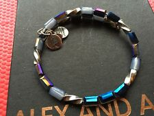 ALEX and ANI Indie Spirit VINTAGE 66 PACIFIC BLUE ALLURE Beaded Wrap BRACELET��