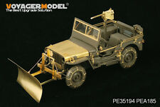 Voyager PEA185 1/35WWII U.S. Jeep Willys MB snow plow w/ tyre chains For TAMIYA