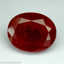11.65cts. HUGE PIGEON BLOOD RED RUBY OVAL LOOSE GEMSTONE ovale rubis rouge