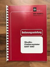EMT 930 MANUALE ORIGINALE