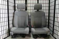 2009-2014 FORD F150 GREY CLOTH  FRONT SEATS WITH SIDE BAGS DRIVER POWER PASS MAN