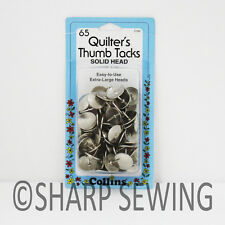 COLLINS QUILTERS THUMB TACKS 65 EACH #C330