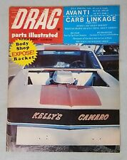 Drag Parts Illustrated Magazine July 1968 Green Hornet Funny Car - Camaro