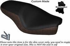 DESIGN 2 DISTRESS & BLACK CUSTOM FITS HARLEY SPORTSTER 883 1200  DUAL SEAT COVER