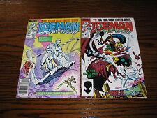 Marvel - ICEMAN #1 and #2 Comic Lot!!  VG+/FN  1984