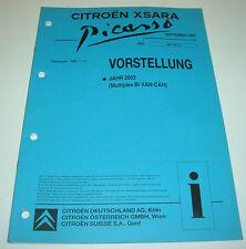 Werkstatthandbuch Citroen Xsara Picasso Vorstellung 2003 Multiplex Bi Van-Can!