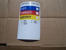 "LOT of 25  MSDS RIGHT TO KNOW LABEL STICKER   5""x3""   Paper with sticky back"