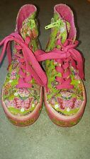 Girls Lelli Kelly Pink & Green Shoe Boots - Size 10 (Euro 28)