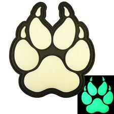 K-9 handler dogs of war paw K9 PVC morale glow dark patch VELCRO® brand