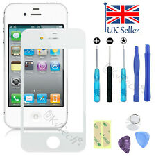 Front Screen Glass Lens Replacement Repair Kit + Adhesive for iPhone 4 4S White