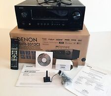 Denon AVR-3312C Integrated Network Receiver 3D 7.2 COMPLETE in Box Ex. Bundle