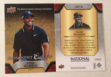 2015 Upper Deck/UD Prominent Cuts VIP Promo TIGER WOODS Golf #VIP-5 (QTY Avail)