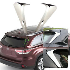 Chrome Mirror Rear Window Trim Cover for 2014-2015 Toyota Highlander Kluger