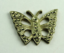 Antique Sterling Silver Marcasite BUTTERFLY Jewelry Design Piece Trim #EST581