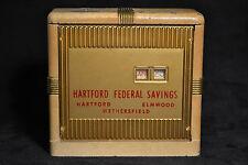 Vintage Heavy Date Bank Hartford Federal Savings Weathersfield, Elmood Coins