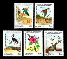 Monaco. Symposium on Migratory Birds. 1991. Scott 1744-1748. MNH (BI#19)