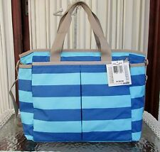 LeSportsac Ryan Baby Diaper Bag Rugby Stripes Travel Weekender Tote NO PAD NWT