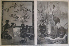 CENTENNIAL EXHIBITION JAPANESE BRONZE & LACQUER EXHIBIT HARPER'S WEEKLY 1876