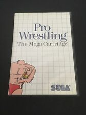 Pro Wrestling Sega Master The Mega Cartridge COMPLETE