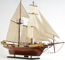 "Harvey Baltimore Clipper Tall Ship Assembled 35"" Built Wooden Model Boat Varnish"
