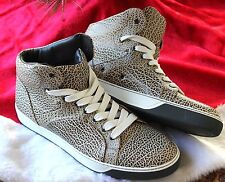 Mens Lanvin Printed Full-Grain Leather High-Top Sneaker Size 11 Made in Italy