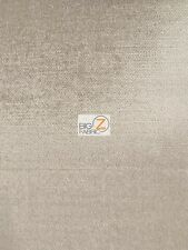 """SOLID DRAPERY UPHOLSTERY JEWEL VELVET FABRIC - Pewter - 55"""" WIDE BY YARD SOFAS"""